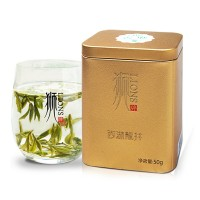 狮牌 西湖龙井 2019年明前茶 绿茶 特级 50g 金罐 单罐