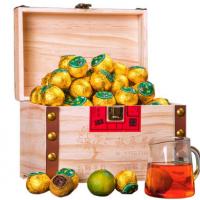 小青柑8年普洱茶 柑普茶新会私房茶木质礼盒装茶叶1000g