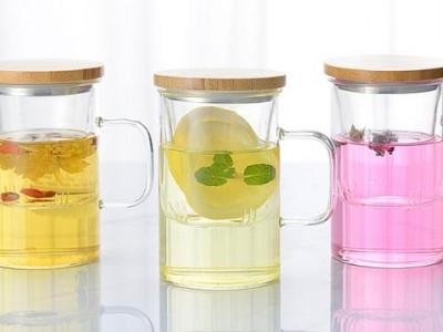 玻璃杯 茶水分离杯子 办公商务双层耐热过滤花茶水杯子