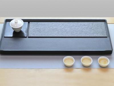 天然黑乌金石手工雕刻功夫茶台 茶盘茶海茶托