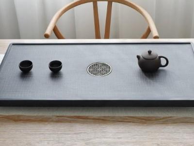 天然乌金石茶盘 家用简约茶台 石雕茶盘